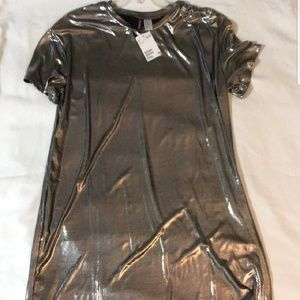 H&M Metallic T-shirt Dress!